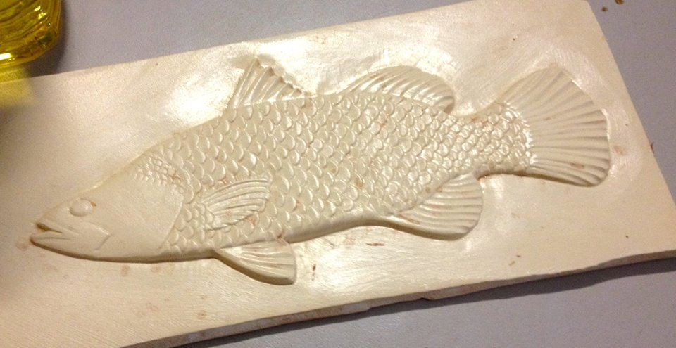 Barramundi in glass by Dr Sawfish