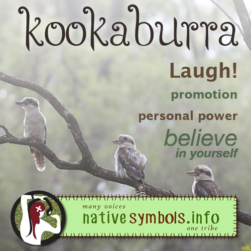 Kookaburra brings messages.