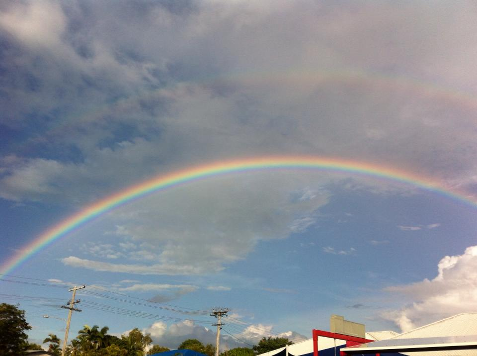 rainbow in Townsville April 2017