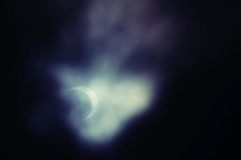 Solar eclipse, 10th May 2013. Townsville, Australia.