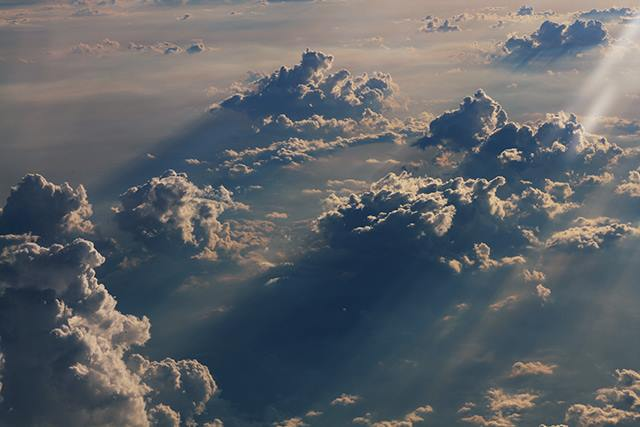 clouds as seen from an airplane